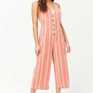 Forever 21 - Striped Button-Front Jumpsuit